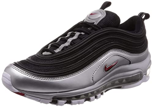 25da3d232af09 Nike Men's Air Max 97 QS, Black/Varsity RED