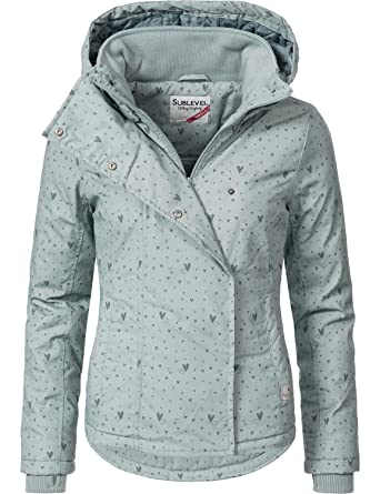 4741787ab24d Sublevel Damen Winterjacke Outdoorjacke 46550D 20 Farben XS-XL  Amazon.de   Bekleidung