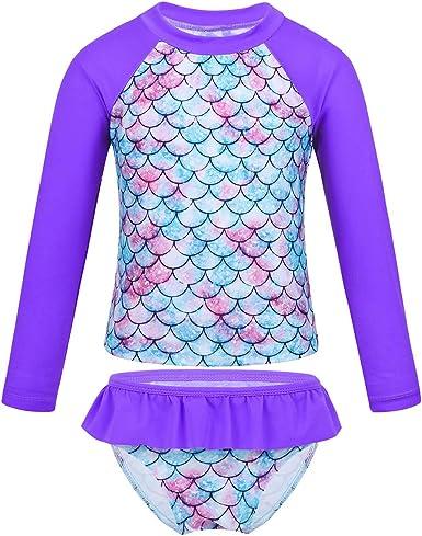 iEFiEL Kids Baby Girls 2 Pieces Mermaid Swimsuit Long