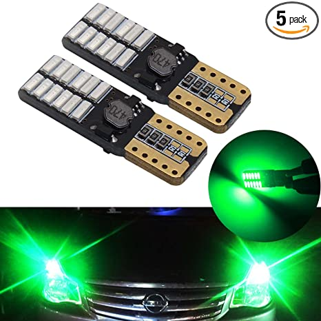 5PCS Blue LED T10 194 W5W Car Motorcycle Dome Instrument Lights Bulbs Lamps 12V