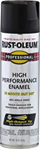 Rust-Oleum 7578838 - 6 PK Professional High Performance Enamel Spray Paint, 15 oz, Flat Black, 6 Pack