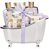 Spa Luxetique Gift Baskets for Women, Lavender Bath Set, Gift Set for Women, Luxury 8 Pcs Home Gift Baskets Includes…