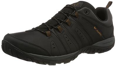 Columbia Herren Sneakers, WOODBURN II, Schwarz (Black, Goldenrod), Größe: