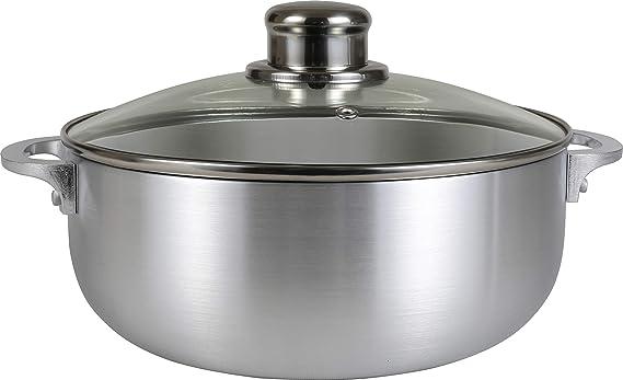 Amazon.com: Cocina Sense de aluminio pulido caldero holandés ...