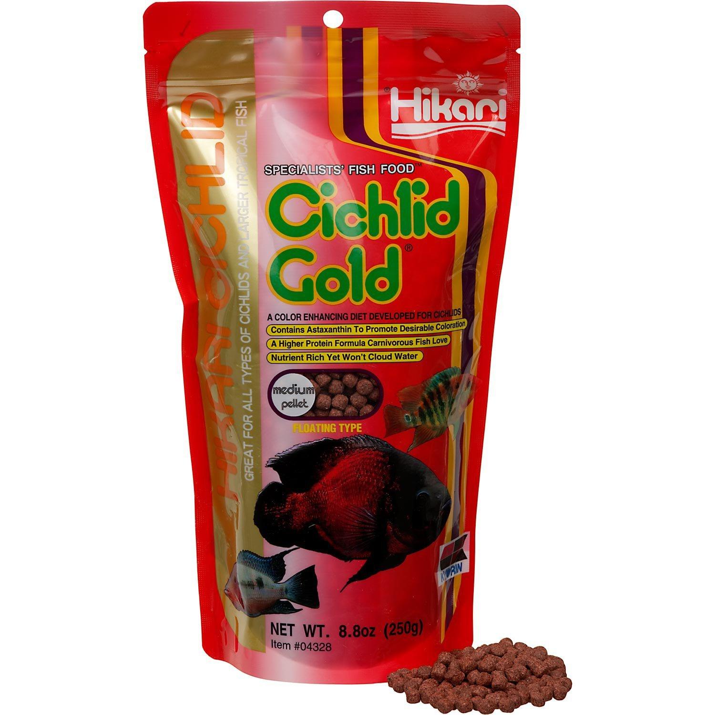 Amazon.com : Hikari Cichlid Gold Medium8.8oz : Pet Food : Pet Supplies
