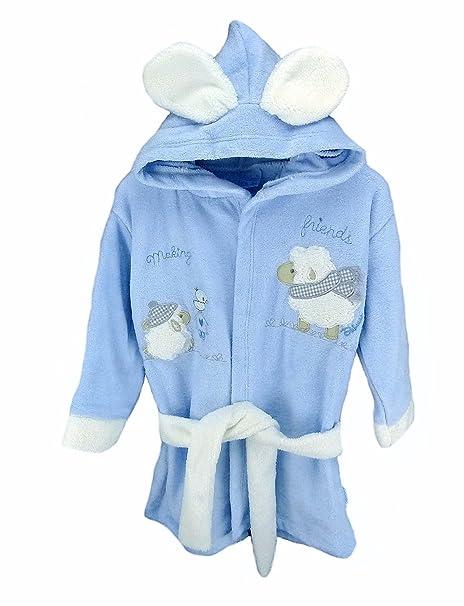 Baby erstausstattung Juego: Albornoz Toalla con capucha Guantes Cinturón Biberon con animales Diseño de Oveja