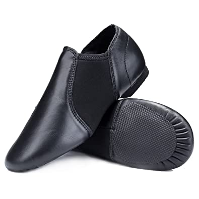 STELLE Leather Slip-on Jazz Shoes for Womens Girls Boys Toddler Kids Mens  (5MW 33f673330