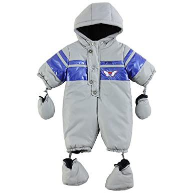 8e148e9503f0 3Pommes Baby Boy s Cargo Snow Suit Fur Lining Light Grey 9 - 12 ...
