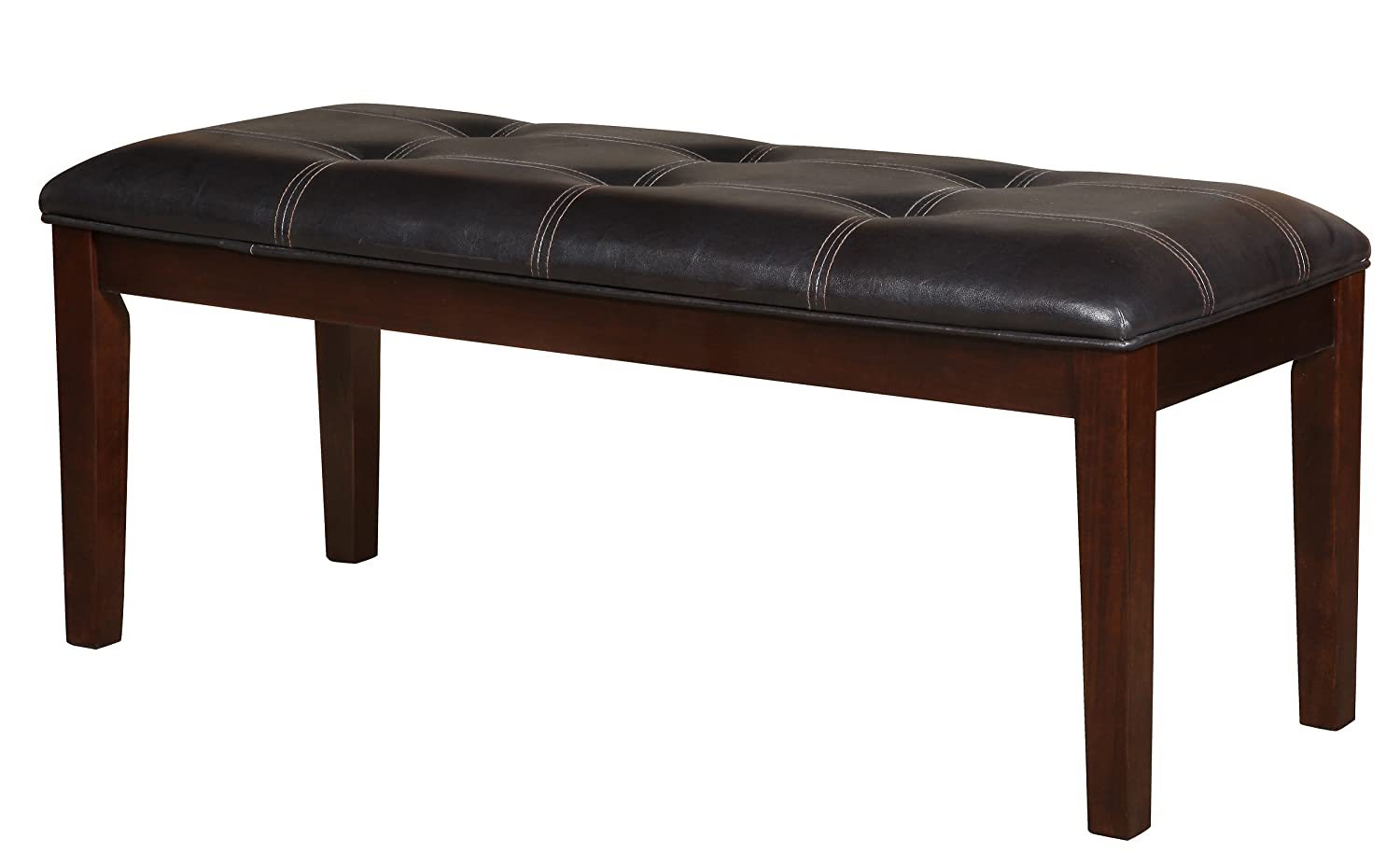 Homelegance 2456-13 Bench Upholstered, 49-Inch, Dark Brown Home Elegance - DROPSHIP