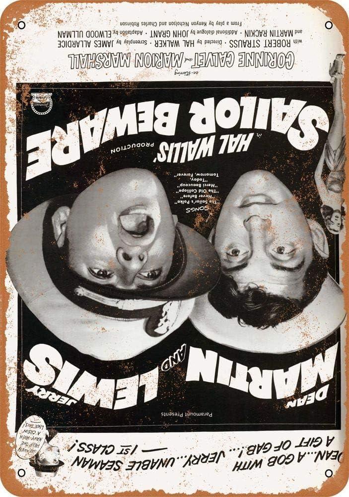Yohoba 1952 Sailor Bewa Dean Martin Jerry Lewis Letrero de Metal ...