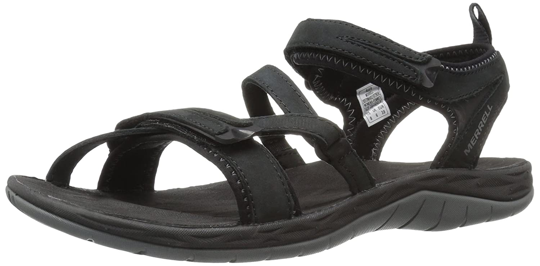 Merrell Women's Siren Strap Q2 Athletic Sandal B01HGW5EMS 8 B(M) US|Black