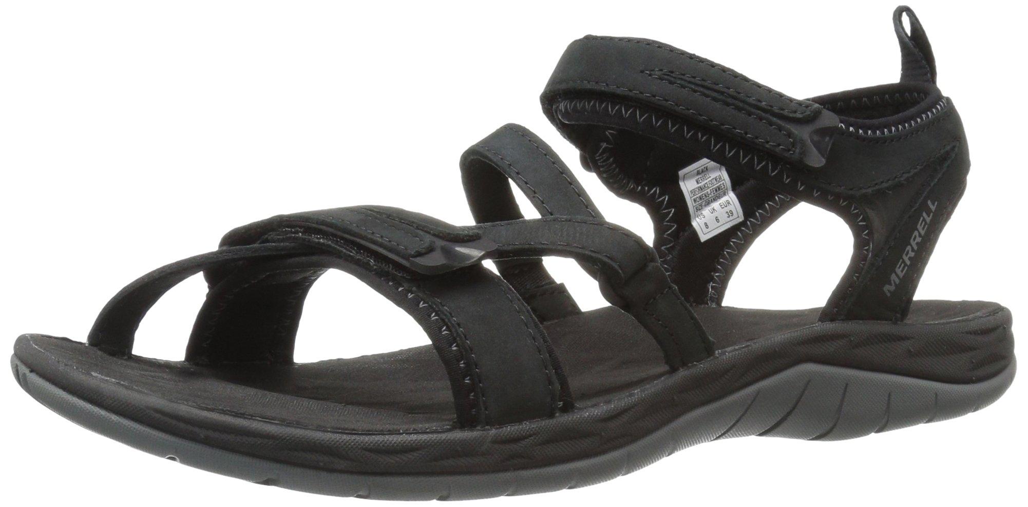 Merrell Women's Siren Strap Q2 Athletic Sandal, Black, 7 M US