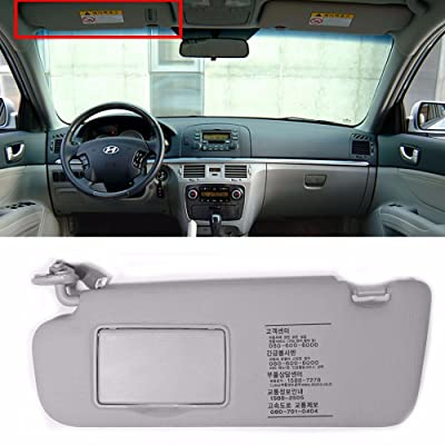 HYUNDAI Interior Sun Visor Shade LH Gray For 2006-2010 Sonata OEM Parts: Automotive