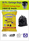 VEDANT SANTOSH Garbage Bag Biodegradable Small Size 10 x 12 inch (Pack of 50 Pcs) Dustbin Carrybag Small Size for Home & Kitchen