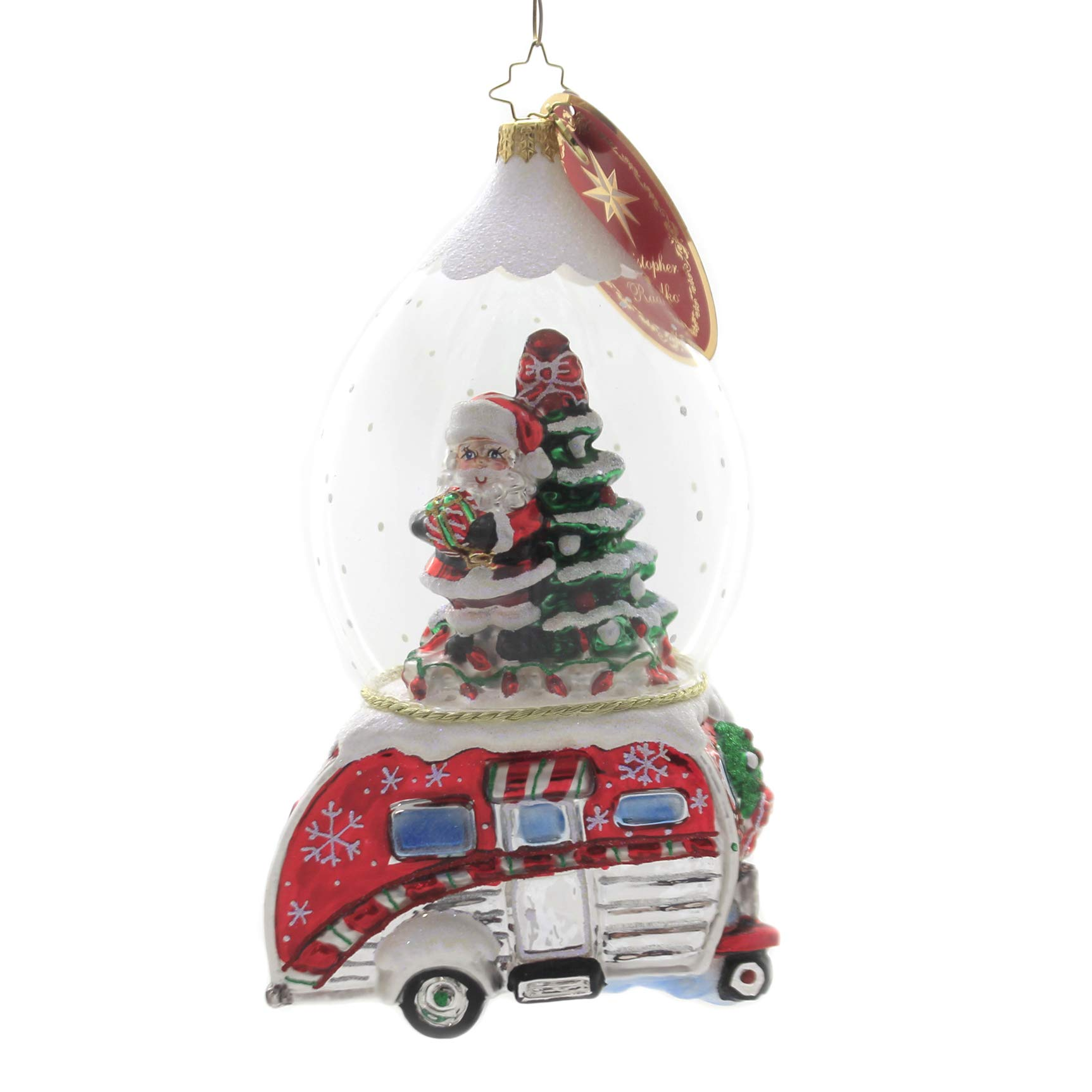 Christopher Radko One Happy Camper Christmas Ornament, Multicolor