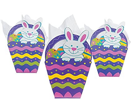 Amazon paper easter basket shaped gift bags 1 dozen toys paper easter basket shaped gift bags 1 dozen negle Images