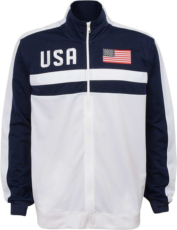 Team color X-Large Mens Outerstuff Track Jacket International Soccer U.S.A