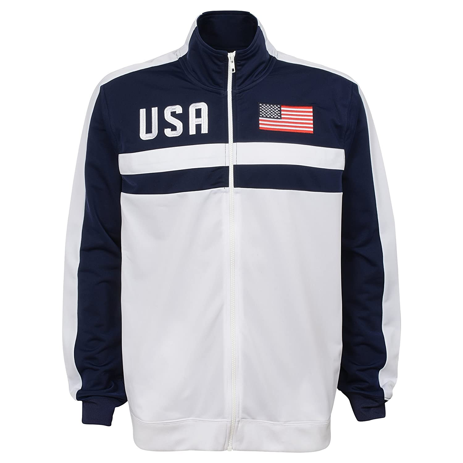Large International Soccer United States Mens Outerstuff Track Jacket Team color