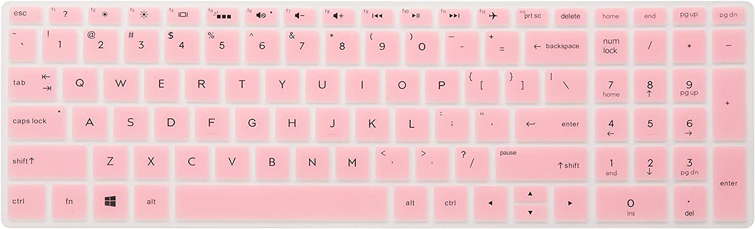 "LEZE - Ultra Thin Keyboard Cover for 15.6"" HP Pavilion X360 15-BR,Pavilion 15-CC 15-CH 15-CD 15-CB 15-BS 17-BS 17M-AE serie Touch-Screen Laptop - Pink"