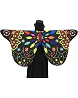 Butterfly Shawl, Soft Fabric Party Costume Fairy Ladies Costume Accessory by BSGSH