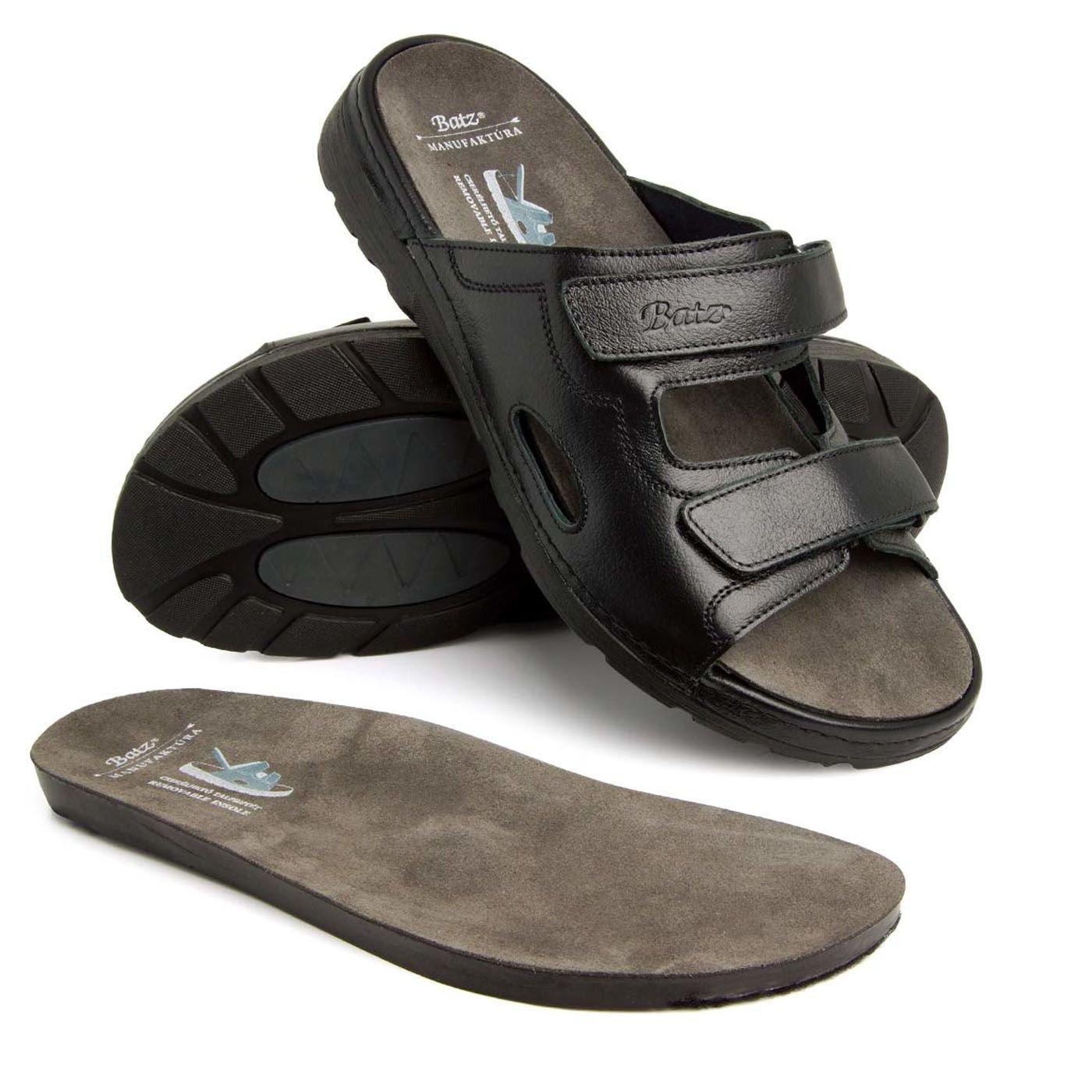 9c8e492a7391 Batz Attila Leather Slip-on Mens Sandals Clogs Mules  Amazon.co.uk  Shoes    Bags