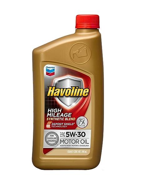 Havoline High Mileage Motor Oil 5W 30 , 1 QT.
