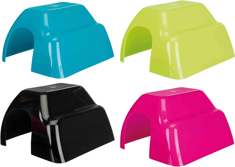 TRIXIE Casita Plástico Roedores, 23 x 15 x 26, Pequeños Mamíferos, 1 unidad [colores surtidos]