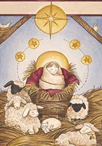 Toland Home Garden Nativity 12.5 x 18 Inch Decorative Christmas Winter Sheep Stable Jesus Birth Garden Flag