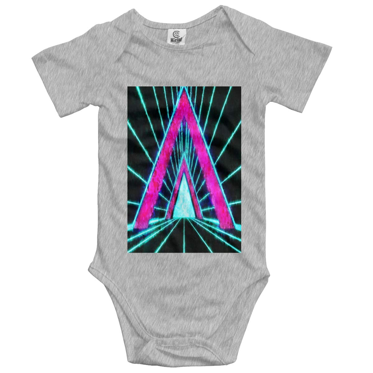 Trend Red Triangle Time and Space Tunnel Boys /& Girls Black Short Sleeve Romper Triangle Romper for 0-24 Months
