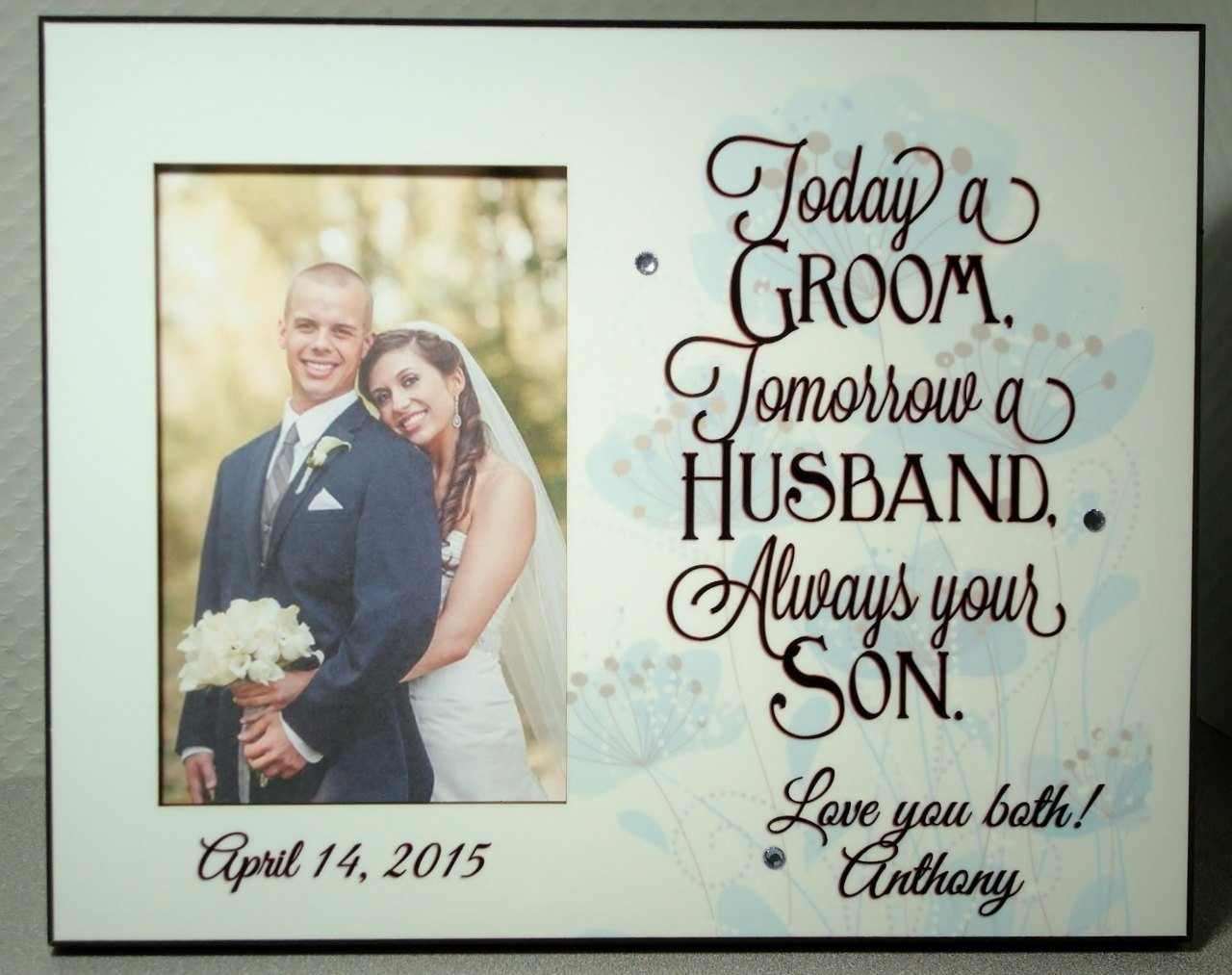 Amazon Parent Wedding Gift Today A Groom Always Your Son