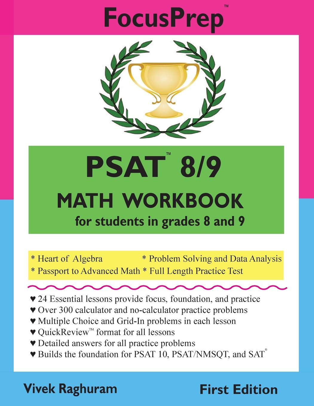 PSAT 8/9 MATH Workbook: for students in grades 8 and 9. (FocusPrep) pdf epub