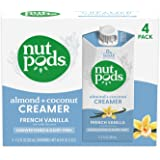 nutpods French Vanilla, (4-Pack), Unsweetened Dairy-Free Creamer, Made from Almonds and Coconuts, Whole30, Gluten Free, Non-G