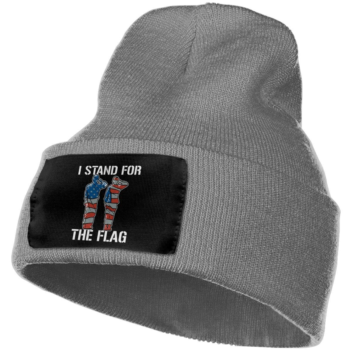 FORDSAN CP I Stand for The Flag Mens Beanie Cap Skull Cap Winter Warm Knitting Hats.