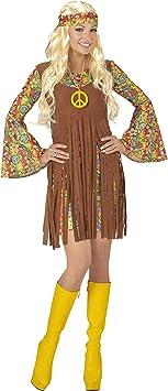 WIDMANN Disfraz de Hippie para Mujer, Adulto: Amazon.es ...