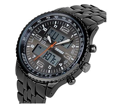 TTLIFE 1032 hombres de Agua Con carcasa de aleación resistente Pantalla LED relojes deportivos análogo-