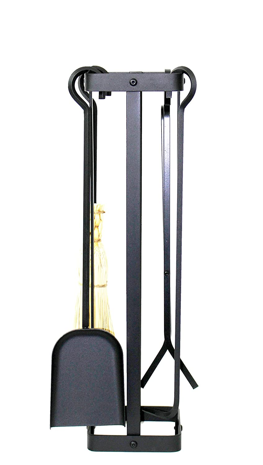 Enclume Square Fireplace Tool Set, Hammered Steel FPTS21 HS