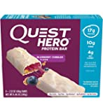 Quest Hero Protein Bar Blueberry Cobbler 8.46oz(2.12ozx4), pack of 1