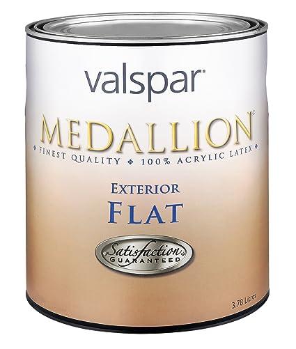 Valspar 27-45505 QT Flat Clear Base Medallion Exterior Latex