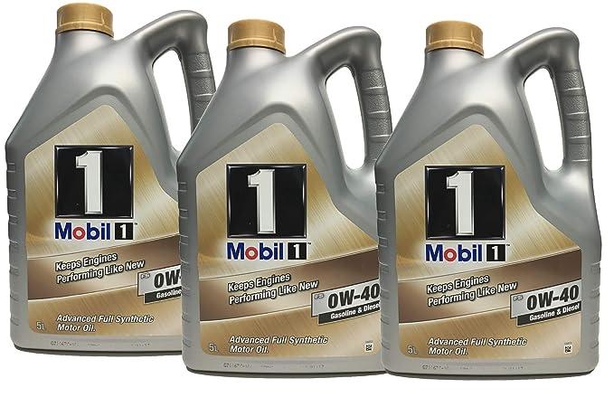 Aceite Trisintetico Motor - Mobil 1 fs 0W-40, pack 15 litros ...