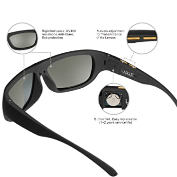 58a2a6216f6 Image Unavailable. Image not available for. Color  LCD Sunglasses Men with  Electronic Darkness Adjustable Liquid Crystal Lenses
