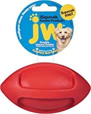 JW Pet Company Isqueak Funble Football jouet pour chien, les couleurs peuvent varier, Small, Yellow and red