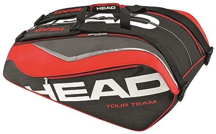 a96ae382a1 Amazon.com : HEAD Tour Team 12R Monstercombi Tennis Bag, Black/Red ...