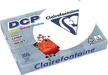 Clairefontaine 3806C - Pack de hojas, Blanco, A4, 125 hojas, 350 g/m2