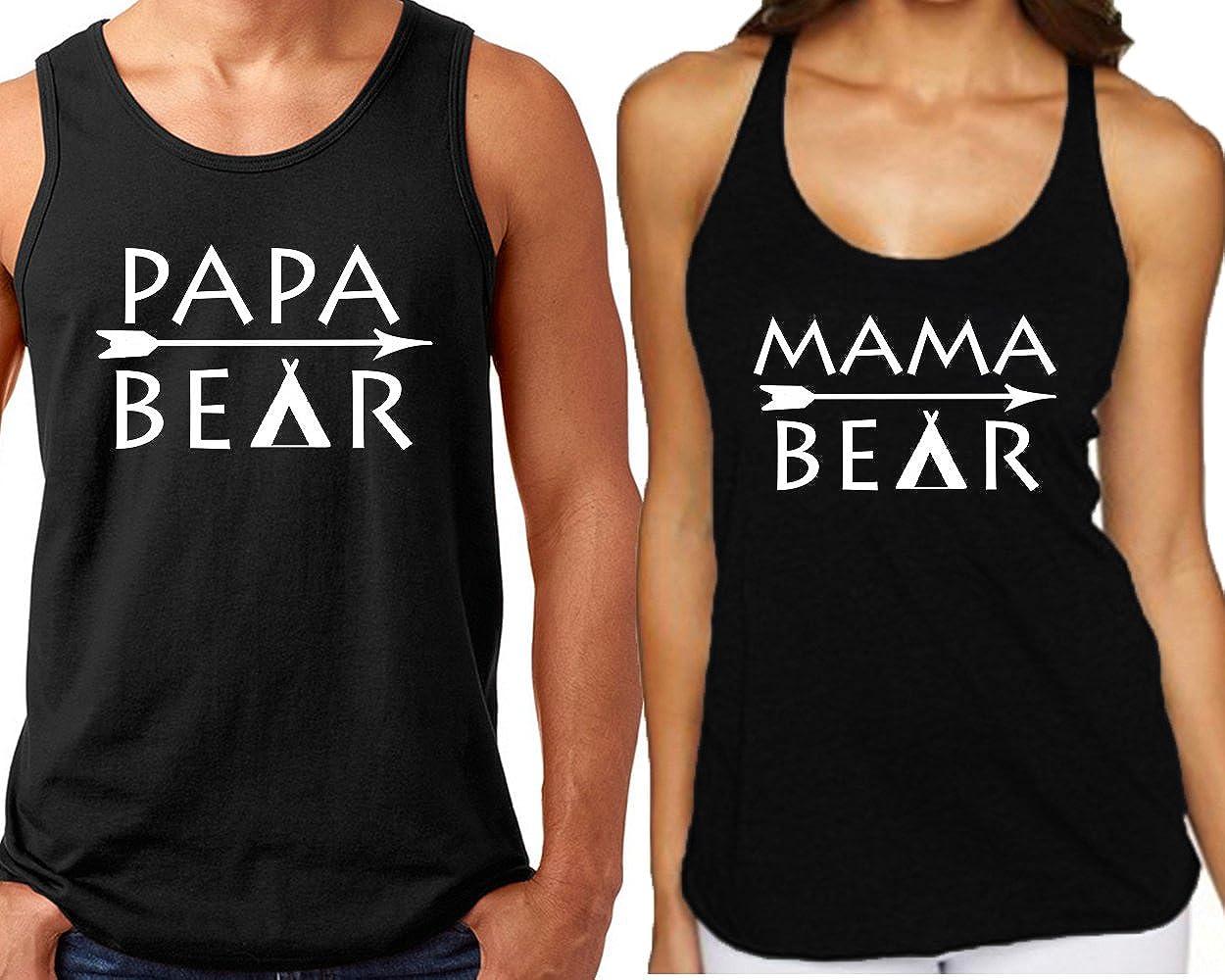 CRAZYDAISYWORLD Papa Bear Mama Bear Arrow Unisex Couple Hoodies