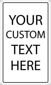 Custom Metal Sign Personalized with Name or Message 2-Pack