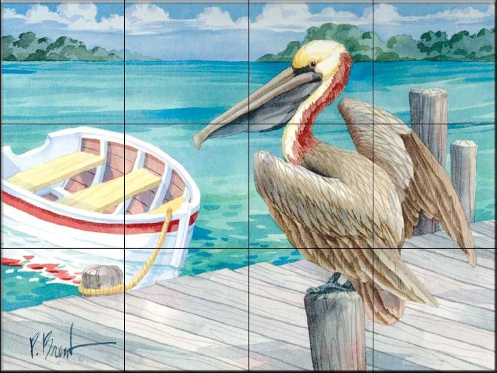 par Paul Brent Fresque murale en carrelage Portfino Barques Cuisine cr/édence//Salle de bains douche