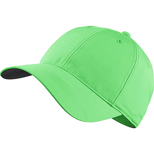 c6168524a8a Amazon.com   Nike Golf Legacy Swoosh 91 Tech Golf Cap 2017 Adjustable  Electro Green White Swoosh