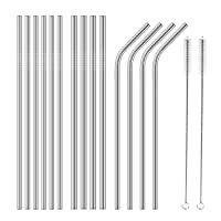 16-Pack Stainless Steel Drinking Straws Reusable Deals