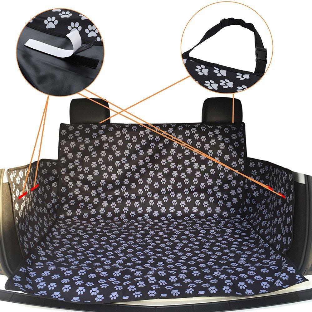 HCMAX Perro Veh/ículo Protector de Maletero Cubierta del Revestimiento de Carga Mascota Cubierta de Asiento Estera Antideslizante Impermeable Universal para Camionetas SUV