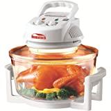 Hometech HT-D11 12 Quart 1200W Halogen Infrared Conventional Cooking Convection Countertop Toaster Oven,White